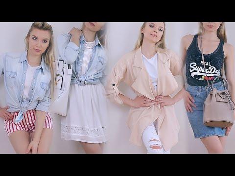 БАЗОВЫЙ ГАРДЕРОБ на ЛЕТО + составляем OUTFIT-ы / Summer wardrobe essentials 2015