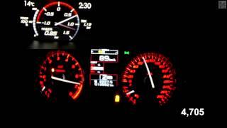 Subaru WRX STI Boost View Acceleration 0-100 km/h (Measured by Racelogic)
