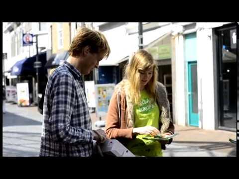 Jeroni Vergeer campaigning in Vlissingen, the Netherlands