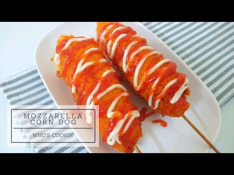 Mozzarella Corn Dog Recipe Mozzarella Stick Resepi Mozzarella