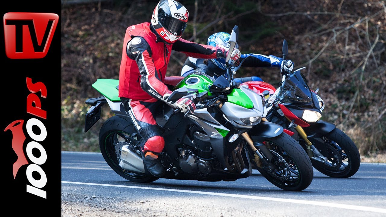 Comparison Comparativa Bmw S 1000 R Vs Kawasaki Z1000 Naked Bike Duel 2014 Espa 241 Ol Youtube