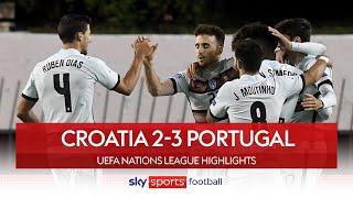 Ruben Dias capitalises on Croatia calamity! | Croatia 2-3 Portugal | Nations League Highlights
