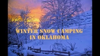 Going Snow Camping in Oklahoma