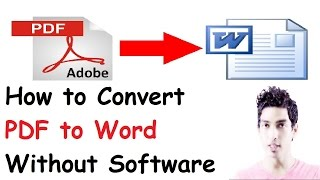 How To Convert pdf to word without software 2017