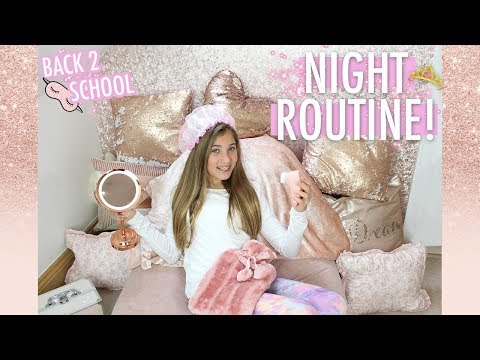 MY 2019 NIGHT ROUTINE! (back 2 school after winter break) | Rosie McClelland
