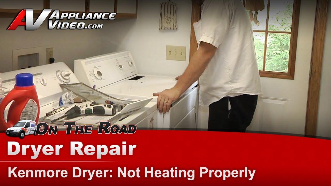 kenmore dryer repair - not heating properly
