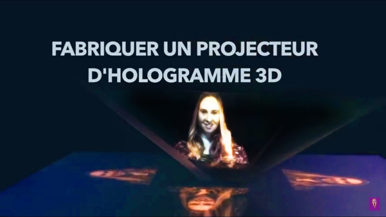 fabriquer un projecteur d 39 hologramme en 3d diy youtube. Black Bedroom Furniture Sets. Home Design Ideas