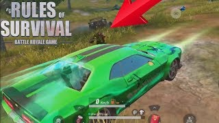 HIDING in My NEW CAR SKIN While Players Drive IT in Rules Of Survival !