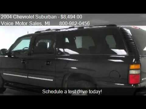 2004 chevrolet suburban lt 4x4 for sale in kalkaska mi for Voice motors kalkaska michigan