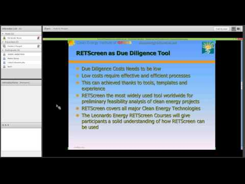 Webinar -- Become a clean energy project analyst