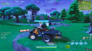 with the car fly! Fortnite Battle Royale