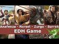 Anafenza vs Narset vs Zurgo vs Surrak EDH / CMDR game play for Magic: The Gathering
