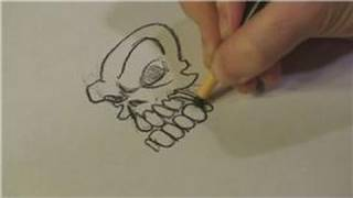 Drawing Lessons : How to Draw Evil Skulls