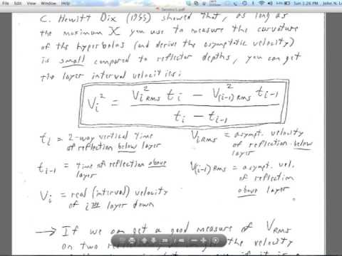 Lecture 8: Seismic Reflection 2
