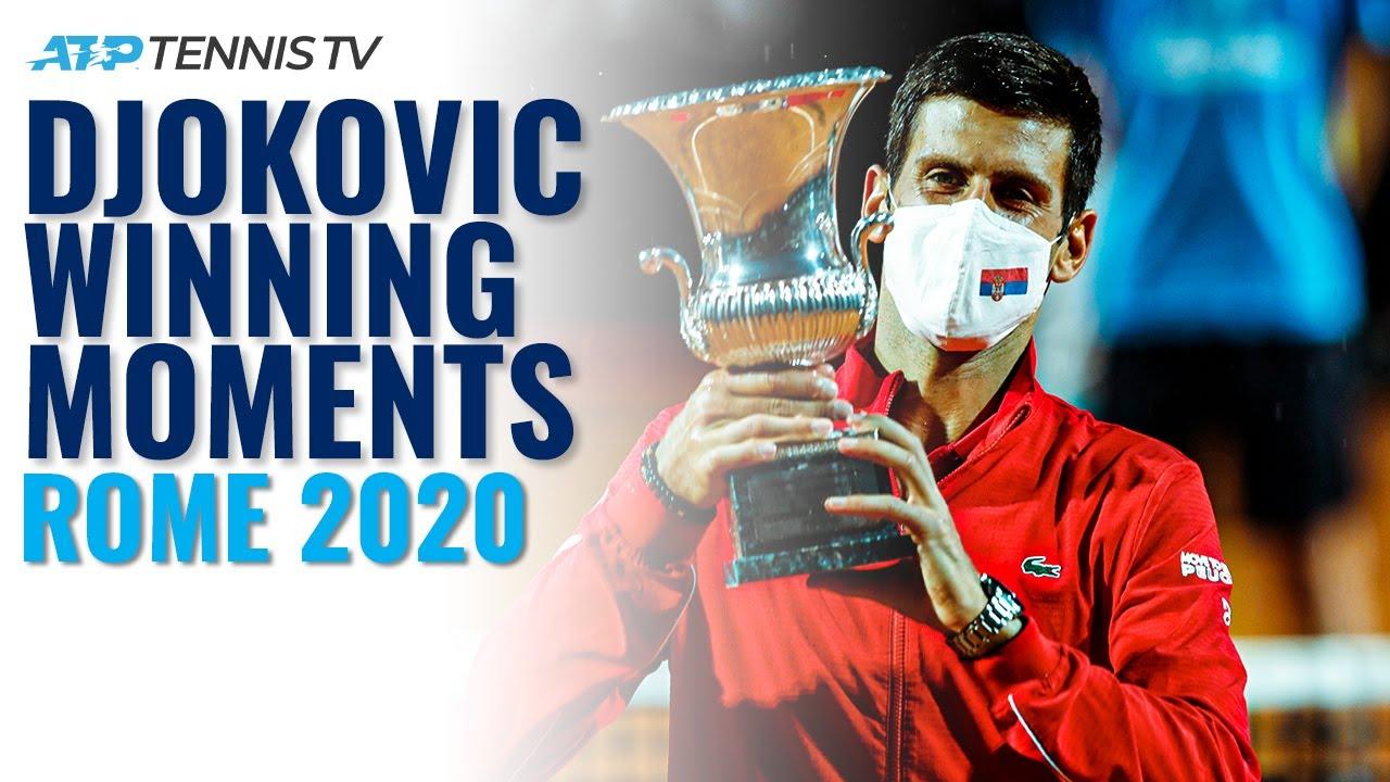 Novak Djokovic Match Point Speech Trophy Lift Rome 2020 Final Youtube