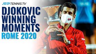 Novak Djokovic Match Point, Speech \u0026 Trophy Lift! | Rome 2020 Final