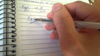Transformação de unidade kgf/m2 para N/mm2