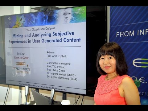 Lu Chen: Mining and Analyzing Subjective Experiences in User Generated Content