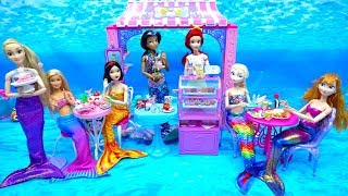 Amazing Mermaid Food Restaurant Princess Ariel Undersea Cafe Disney Princess Barbie Frozen Rapunzel