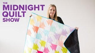 CUPID'S ARROW (with a Quilted Love Note!) Quilt | Midnight Quilt Show with Angela Walters