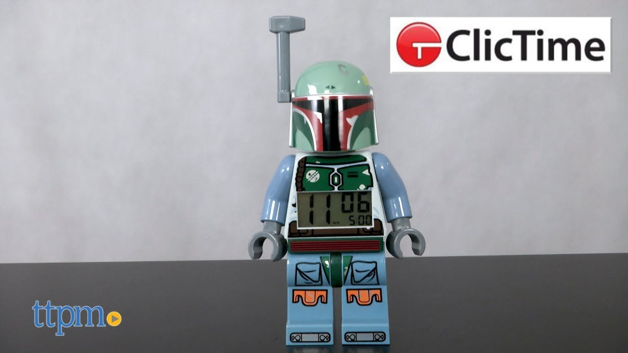 Lego Star Wars Boba Fett Alarm Clock From Clictime Youtube