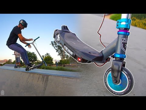 WALMART ELECTRIC SCOOTER TRICKS WITH PRO SCOOTER PARTS!
