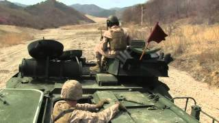 SOUTH KOREA!  Ssang Yong 2014 - Amphibious Assault Vehicle Weapons Training!