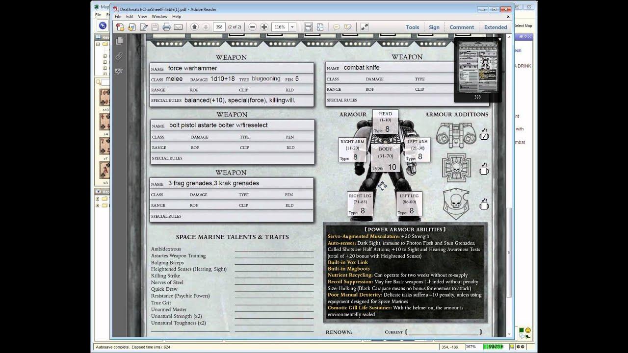 Warhammer 40k Deathwatch Rpg Pdf