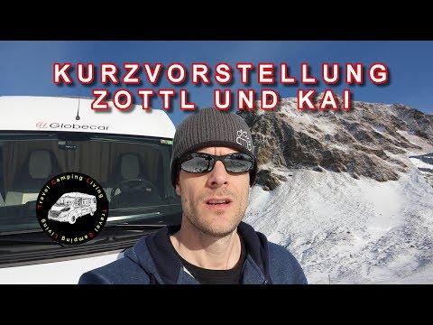 Kurzvorstellung Zottl und Kai von TravelCampingLiving, Reisen mit dem Kastenwagen,Schweiz und Europa