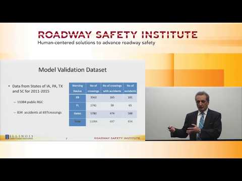 2018 Spring Seminar #12: Railroad Grade Crossings—Accident Prediction Models