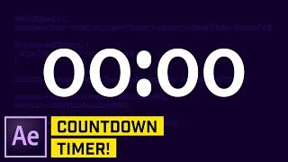 Countdown Timer with Expressions After Effects CC Tutorial