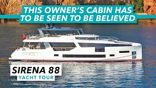 Sirena 88 yacht tour | This owner's cabin has to be seen to be believed | Motor Boat & Yachting
