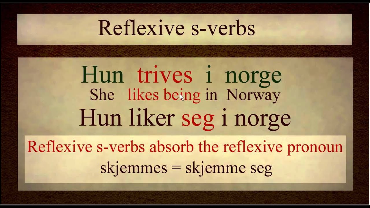 Norwegian Language: S-verbs Explained (bokmål)