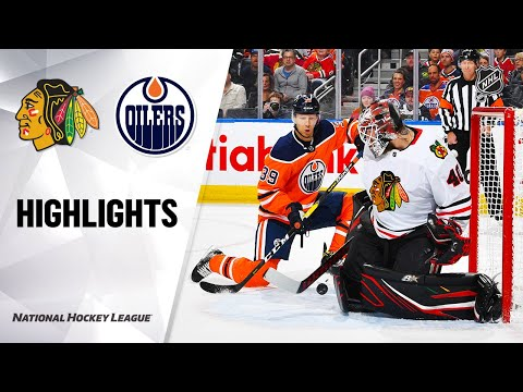 NHL Highlights | Blackhawks @ Oilers 2/11/20