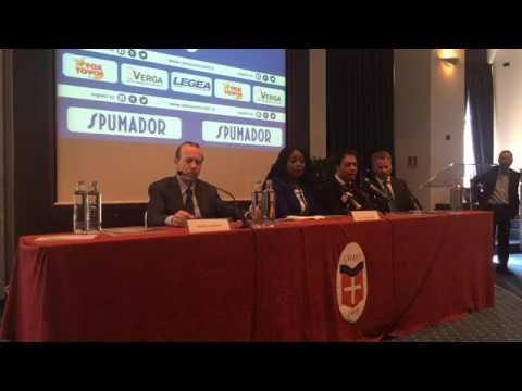 """FC COMO - La conferenza stampa di """"Lady Essien"""" Akosua Puni"""
