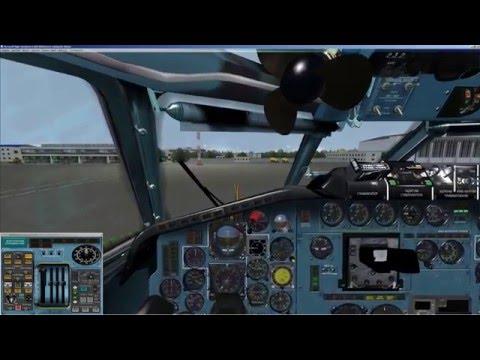 FSX   Ту 154м   Tu 154M   Полет по НВУ   NVU flight   UHHH - UHPP