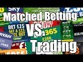Betfair trading for people using matched betting