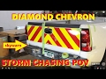 3M Diamond Grade Chevron Install on Storm Chasing Truck/ Fire Dept Photo rig