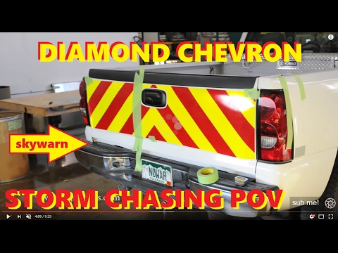 3M Diamond Grade Chevron Install on Storm Chasing Truck ...