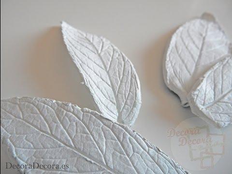C mo hacer hojas de arcilla youtube for Como revestir una pared con ceramica