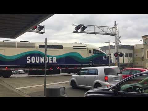 Evening Sounder Trains in Puyallup WA