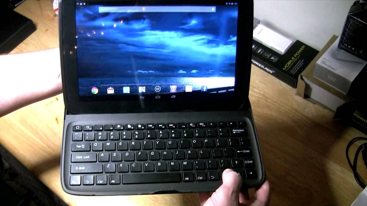putting bluetooth qwerty keyboard stand case for google nexus 10 German Multicenter