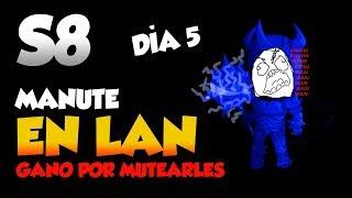 Manute en LAN Quinto día    FULL TILTEO MUTE ALL RIP TECLADO    S8 League of Legends