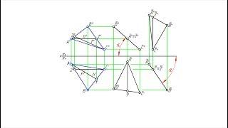 углы наклона плоскости, к плоскостям проекций. Способ параллельного перемещения