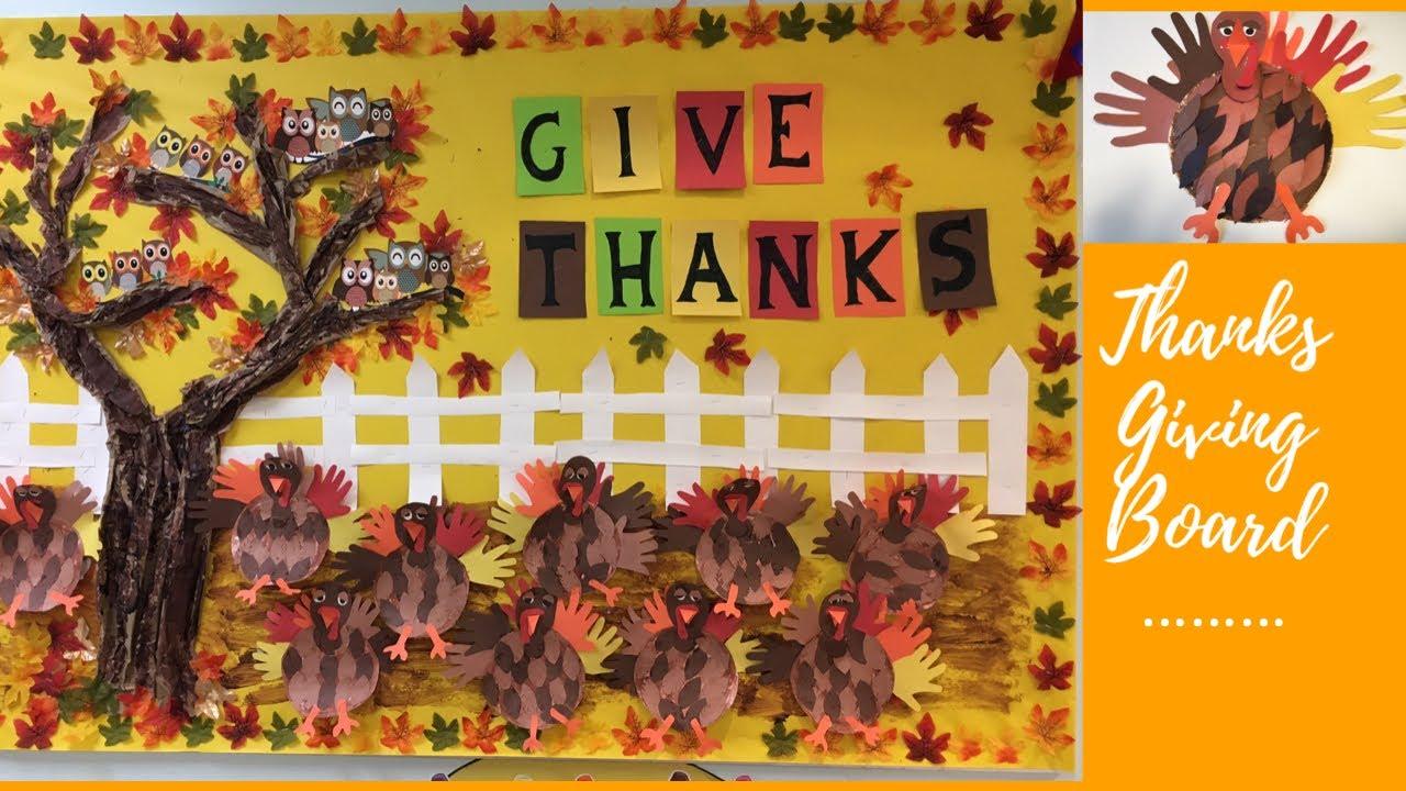 Thanksgiving Bulletin Board Preschool Classroom Decoration Ideas Youtube