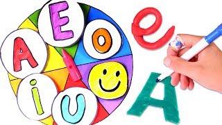 LAS VOCALES 🎨 Aprende las vocales con la ruleta de colores para niños