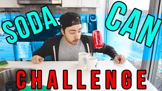 The SODA CAN CHALLENGE!  |  TRY AT HOME