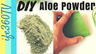 HOW TO Make ALOE VERA POWDER  DIY Ayurvedic Hair Treatment