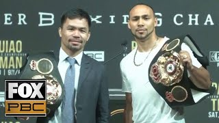 Manny Pacquiao vs. Keith Thurman official NYC | PRESS CONFERENCE | PBC ON FOX