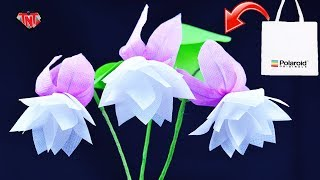 DIY Awesome Stick Flower Using Shopping Bags  How To Make Fuchsia Flowers